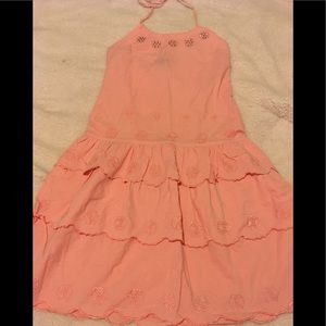 NWOT Umgee pink layered  dress/rhinestone neckline